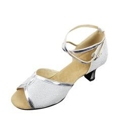 De mujer Cuero Sandalias Danza latina Zapatos de danza