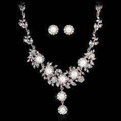 Shining Alloy/Pearl With Crystal Ladies' Jewelry Sets