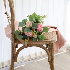 Charming Round Emulational Berries/Silk Flower/Plastic Bridal Bouquets -