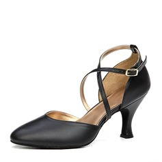 Women's Real Leather Heels Ballroom Dance Shoes (053153266)