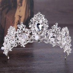 Ladies Glamourous Rhinestone/Alloy Tiaras With Rhinestone (Sold in single piece)