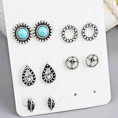 Stylish Alloy Resin Women's Fashion Earrings (Set of 5)