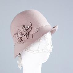 Dames Mooi/Elegant/Eenvoudig Wol Slappe Hat
