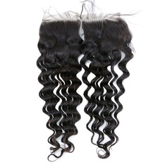 """4""""*4"""" 5A Jungfrau / Remy Tief Menschliches Haar Bedeckung (Einzelstück verkauft) 35g"""