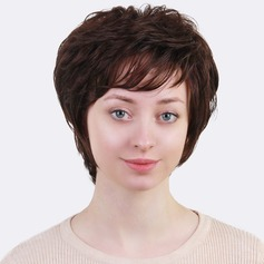 Encaracolado Mistura de cabelo humano Perucas de cabelo humano 80g