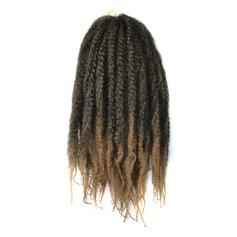 Afro Kinky Flätor syntetiska hår flätor 32 strängar per förpackning 100g