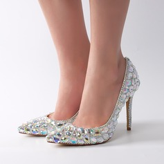 Vrouwen Patent Leather Stiletto Heel Pumps met Strass