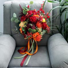 Kaunis Vapaamuotoinen Silkki kukka Morsiamen kukkakimppuihin - Morsiamen kukkakimppuihin