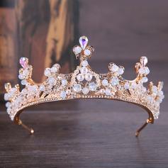 Klassische Art Legierung Tiaras mit Venezianischen Perle