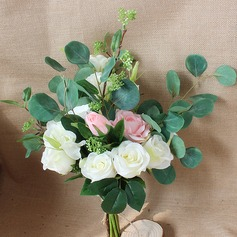 Simple And Elegant Hand-tied Satin Bridal Bouquets (Sold in a single piece) - Bridal Bouquets
