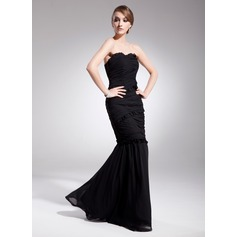 Trumpet/Mermaid Sweetheart Floor-Length Chiffon Evening Dress With Ruffle
