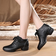 Women's Real Leather Sneakers Modern Jazz Sneakers Dance Shoes