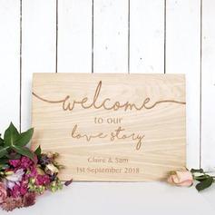 Classic Tyylikäs Puinen Wedding Sign