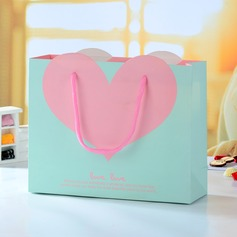 Pink Heart Favor Boxes (Set of 12)