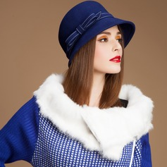 Senhoras Charme Verão/Inverno Lã com Chapéu de Coco / Cloche de Chapéu