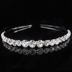 Ladies Beautiful Alloy Tiaras/Headbands With Rhinestone (Sold in single piece) (042202577)