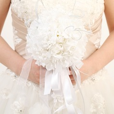 Fancy Round Satin/Ribbon Bridal Bouquets