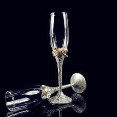 Vakkert Skåle Glass Sett med Rhinestone (Sett Av 2)