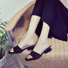 Women's Suede Low Heel Sandals Slippers With Others shoes