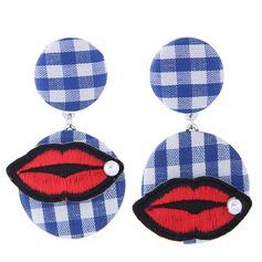 Shining Alloy Cloth Fashion Earrings