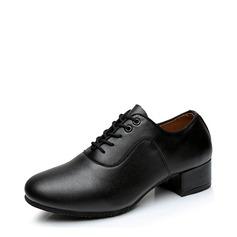 Hommes Vrai cuir Tennis Latin Salle de bal Pratique Chaussures de Caractère avec Dentelle Chaussures de danse