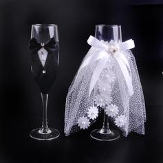 Bruden og Brudgommen Skåle Glass Sett (Sett Av 2)