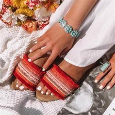 Frauen Seide wie Satin Flascher Absatz Sandalen Flache Schuhe Peep Toe Schuhe