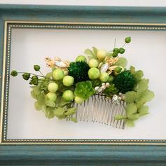 Damen Exquisiten Legierung/Seide Blumen Kämme und Haarspangen