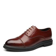Erkek suni deri Bağcıklı Gündelik İş Erkek Oxford Ayakkabı