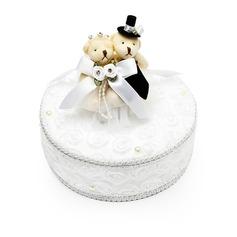 Elegant Ring-Kasten in Satin mit Bär Paar