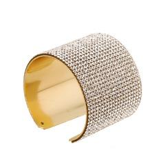 Lysande Legering Strass med Strass Damer' Mode Armband (Säljs i ett enda stycke)