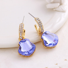 Ladies' Chic Alloy Rhinestone/Austrian Crystal Earrings For Friends