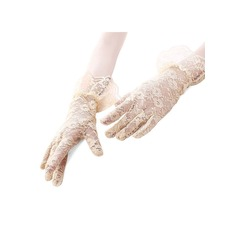 Lace Wrist Length Bridal Gloves (014151728)