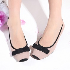 Women's Leatherette Flat Heel Flats With Bowknot shoes