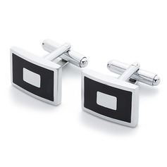 Classic Rectangular Zinc Alloy Cufflink (Set of 2)