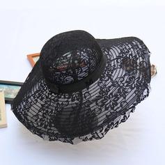 Senhoras Bonito/Elegante Tecido De disquetes Chapéu