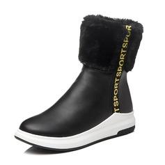 Kvinner Lær Flat Hæl Lukket Tå Støvler Ankelstøvler sko