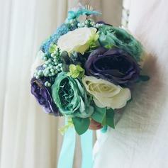 Sonho Forma livre Cetim/Seda artificiais Buquês de noiva -