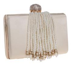 Elegant Polyester/Imitation Pearl Clutches