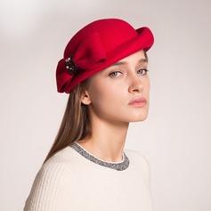 Exquisite Lã com Bowknot Boina Chapéu