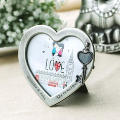 Personalized Heart Shaped Zinc Alloy Photo Frames