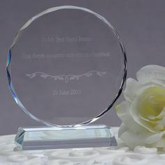 Persoonlijke Ronde Kristal Taart Cilinderhoed