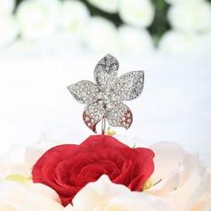 En forme de fleur Chromé Mariage Décoration pour gâteaux