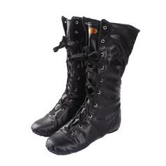 Детская обувь кожа Ботинки Джаз Танцевальные Сапоги Обувь для танцев