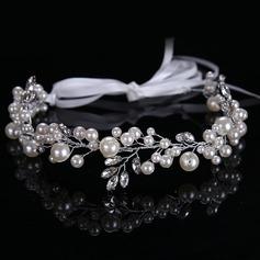 Señoras Elegante Rhinestone/Aleación/La perla de faux Diademas