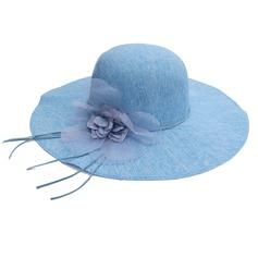 Signore Bella Cotone con Fiore Cappello floscio/Beach / Sun Cappelli