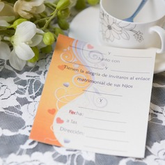 Modern Style Carte plate Invitation Cards (Lot de 50)