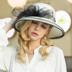 Ladies' Special/Elegant/Eye-catching Polyester With Tulle Floppy Hat