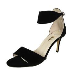 De mujer Ante Tacón stilettos Sandalias Encaje zapatos (087091914)