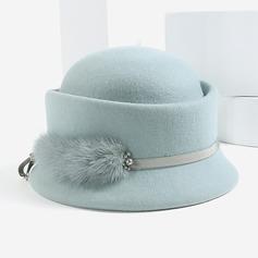 Ladies ' Uroczy/Elegancki/Bardzo Wełna Bowler / Cloche Hat